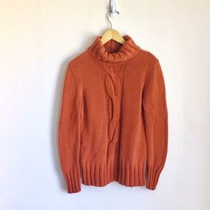 Mexx Orange Turtleneck Sweater Burnt Orange Sz XL